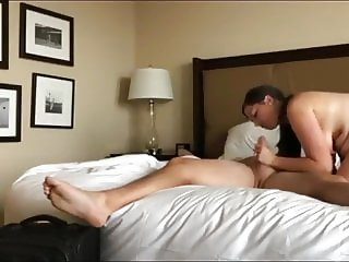 Horny and busty milf loves her new boss on business trip