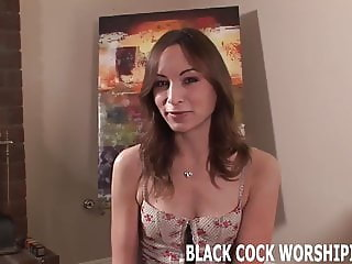 You are here to watch me riding big black cock