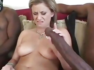 Sexy Busty MILF Enjoying Her First Two BBC on Vacation