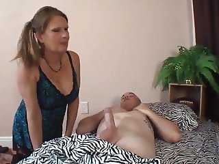 Naughty Stepmom Likes Creampie From her Fat Son