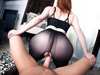 Premature Ejaculation with the Girl of Your Dreams -POV Pantyhose FEMDOM
