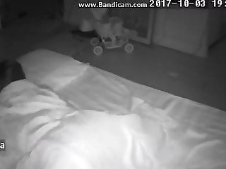 Ip cam masturbate under blanket (with audio)
