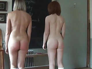 Belinda Lawson and Helen Stephens Spanked Nude Together