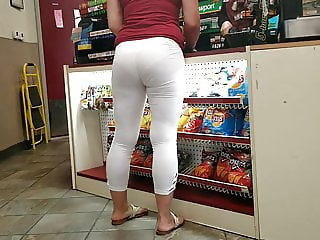 White legging see thru with white panties