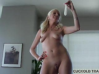 I saved his cum so you could swallow it CEI