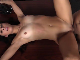 Cute Brunette Tanya, Casting With Creampie