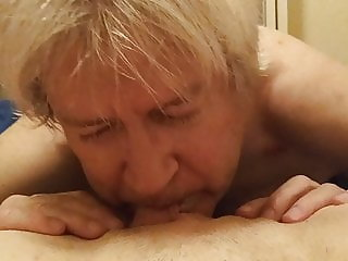 Old Man Eats Pussy of Young Woman