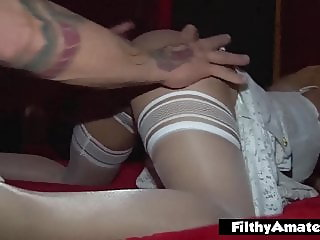Milf eager for cock, escapes from her husband to fuck in org