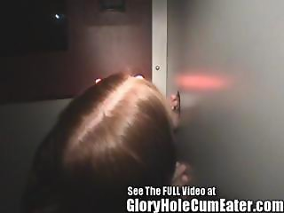 Redheaded Teen Christine Blowing Total Strangers In The Local Gloryhole
