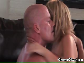 Petite blonde girl loves eating cum part2