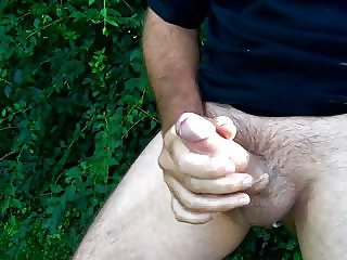 Thick cock, Huge load Outdoors