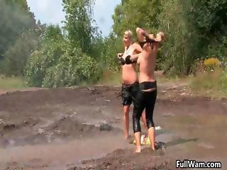 Two horny blonde Euro babes getting part5
