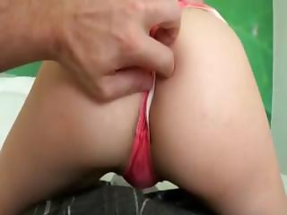 Small titted blondie girlfriend tight asshole fucked at home
