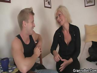Old prostitute is picked up and fucked by stud