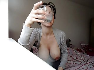 Playing with milk