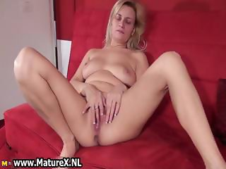 Dirty old slut gets all horny playing part5