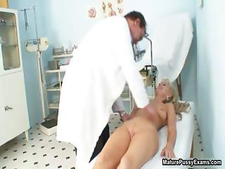 Doctor finger fucking his mature patient part6