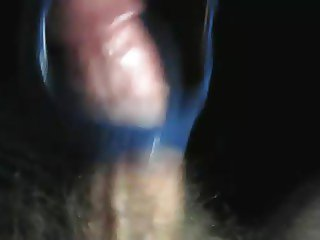 Blue suede high heels fucked and cummed again!