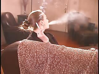Jordan sexy smoking on couch
