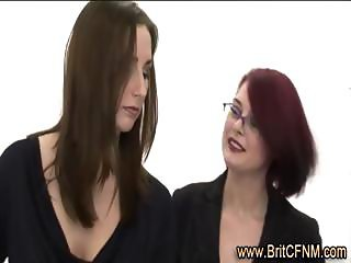 British ladies learn about CFNM male training