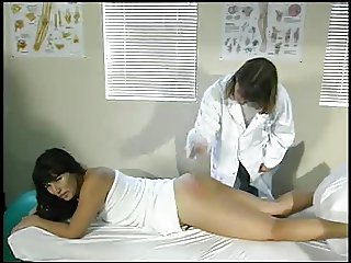 Aunt Gwen spanks Kara in medical office 4