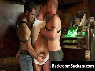 Lesbian Bum Bashing in his Back Room part6