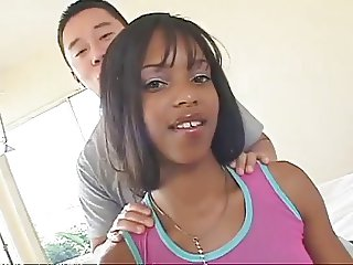 AMBW Marie Luv interracial with Asian guy