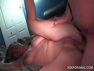 Nympho gets cunt and ass fucked in POV