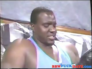 Mega Fat Ebony Squirting Breast Milk on Huge Cock