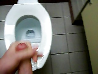 Young 18 Year Old Public Toilet Cumshot