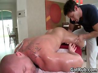 Muscled guy gets his fine tatooed part5