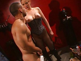 Baby play femdom lingerie mistress