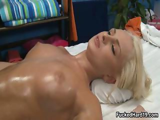 Horny blonde babe going crazy getting part4
