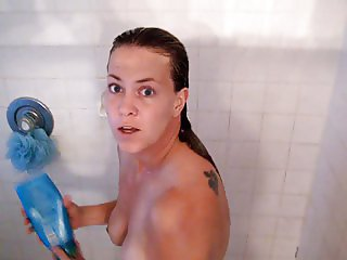 Amy in the shower