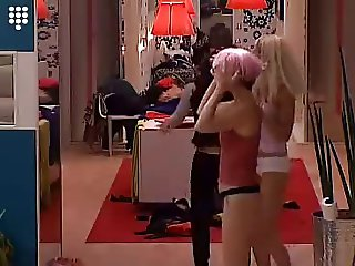 Big Brother 5 - Having fun Dressing up for party