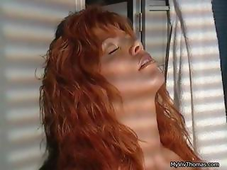 Sexy redhead babe going crazy rubbing part3