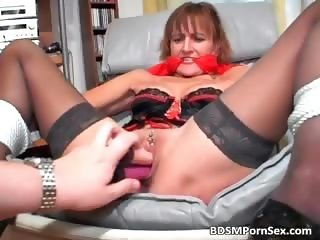 Dirty and filthy MILF spreads her legs part1