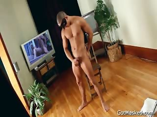 Very good looking hunk stripping part5
