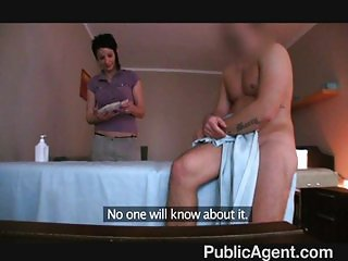 Fucking the masseur MILF
