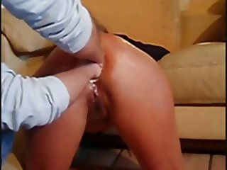 double anal fist for amateur wife