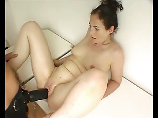 MILF's Pussy Creams Strap-On