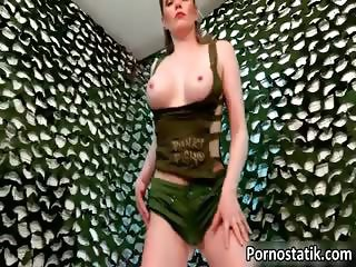 Hot busty girl with Holly is rubbing part1