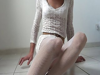 White fishnet