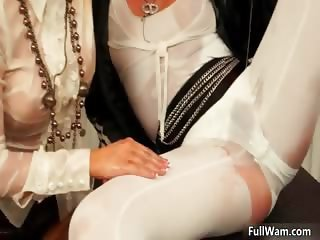 Horny busty blonde babe with big boobs part1