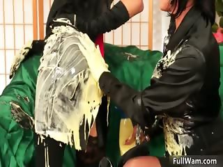 Very busty and dirty brunette loves part5