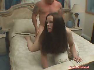 Brunette Nailed Hard By Old Cock