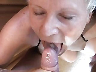 A Camping Trip with a Blonde Slutty Mature