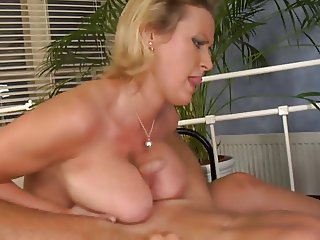 Busty czech Michelle Mount fucks on a furry sofa