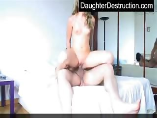 Young teen and dirty daddy