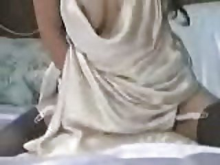 Satin Pillow Masturbation